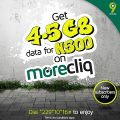 Awoof..!! Get 4.5GB For N500 on 9Mobile